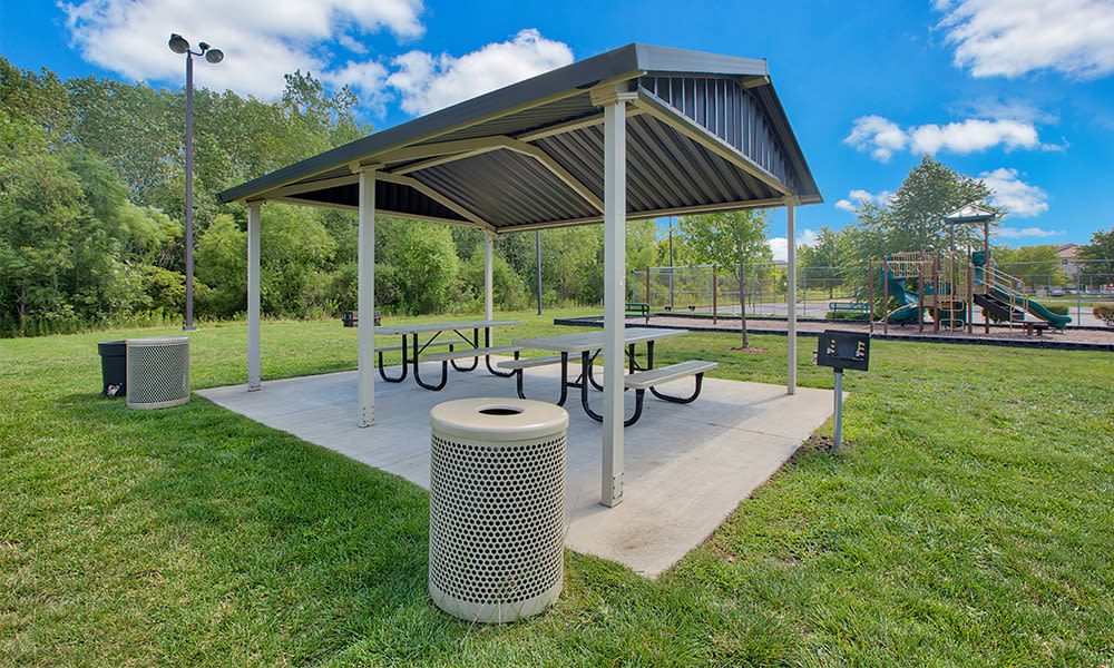 BBQ pavilion at apartments in Merrillville, Indiana