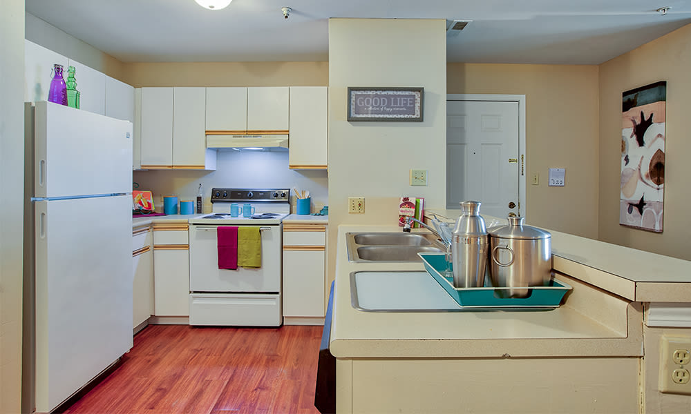 Kitchen at apartments in Merrillville, Indiana