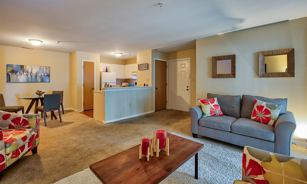 The Lakes at 8201 offers spacious open floor plans