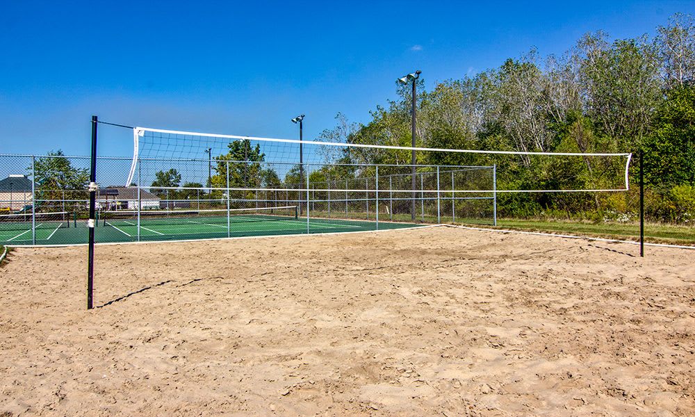 Beach volleyball court at The Lakes at 8201 in Merrillville, Indiana