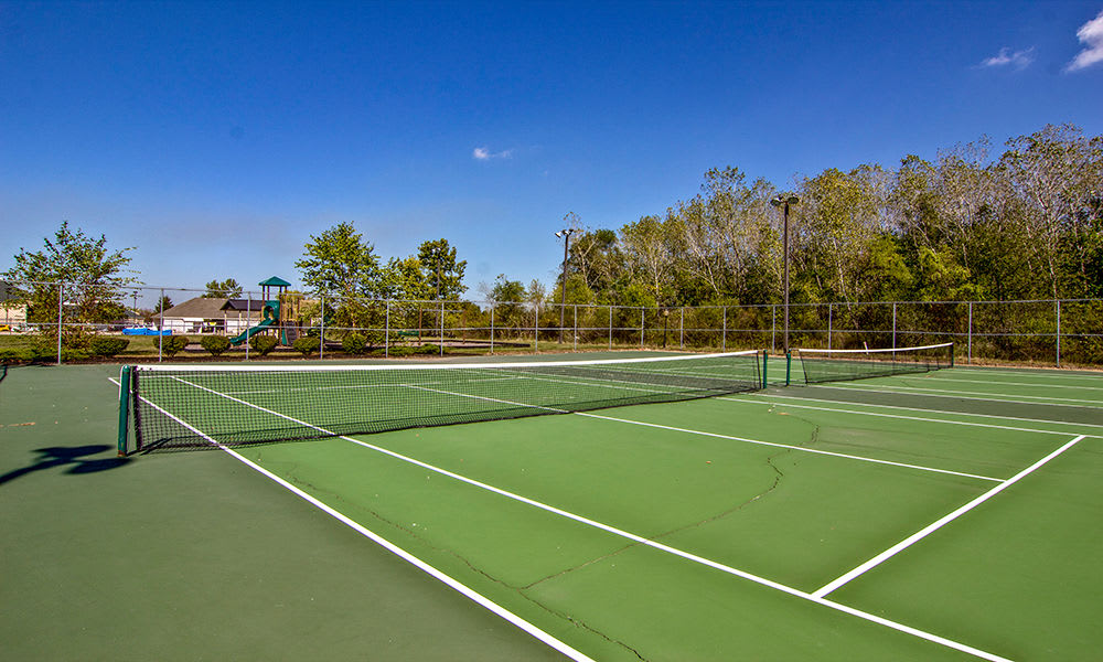 Tennis court at The Lakes at 8201 in Merrillville, Indiana