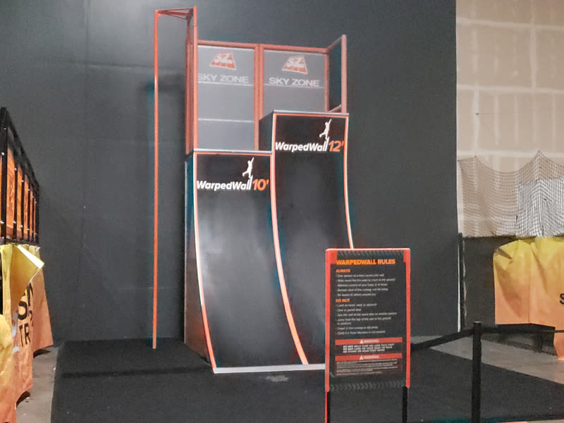 Warped Wall At Skyzone Trampoline Park