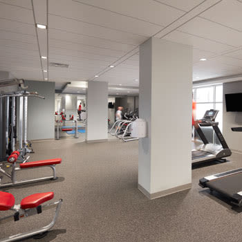 Fitness center at Halifax Apartments in Halifax