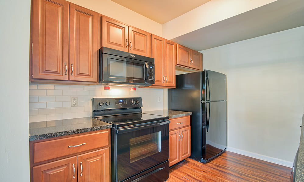 Fully equipped kitchen at apartments in Harrisburg, Pennsylvania