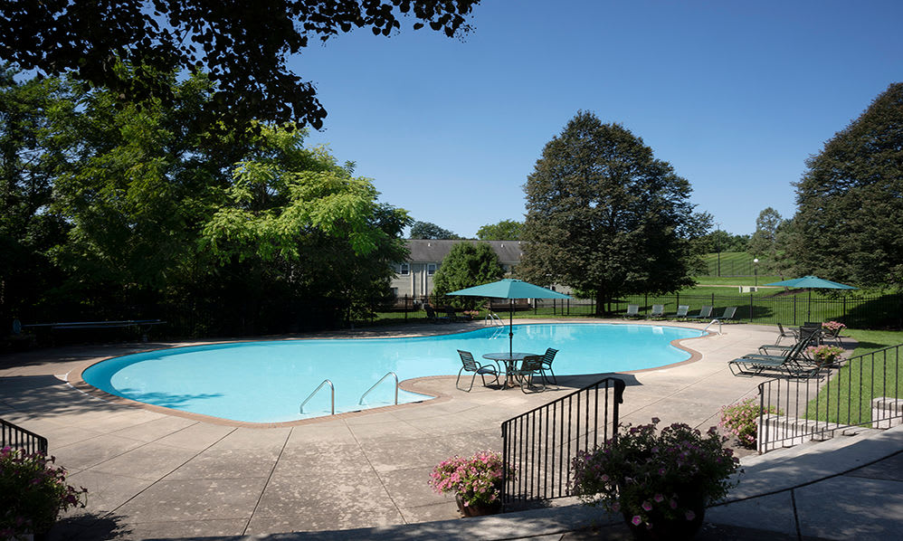 Beautiful swimming pool at apartments in Harrisburg, Pennsylvania