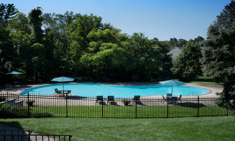 Swimming pool at apartments in Harrisburg, Pennsylvania