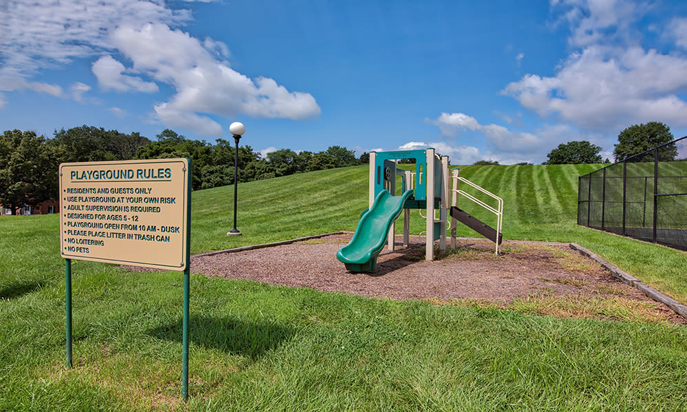 Enjoy apartments with a playground at The Encore at Laurel Ridge