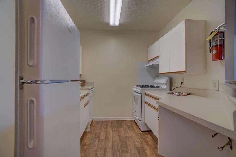 Full, spacious kitchen at Etowah Village Apartments in Cartersville, Georgia.