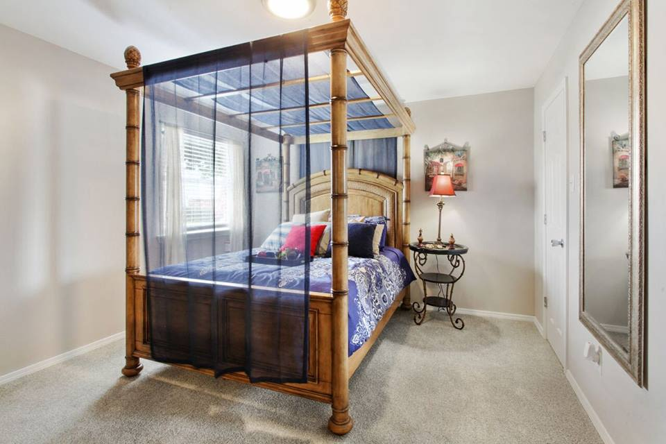 Beautiful bedroom at Summerfield Apartment Homes in Harvey, Louisiana
