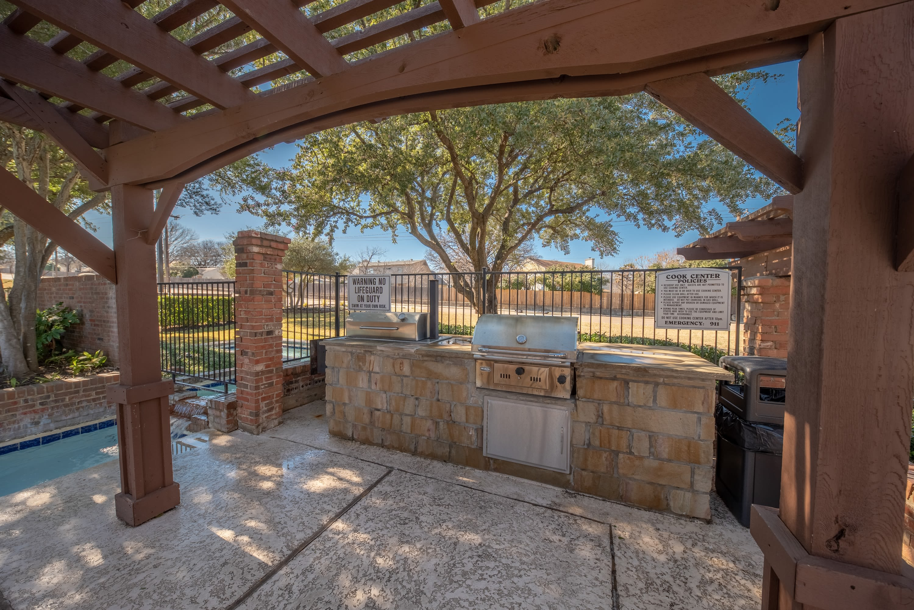 Poolside BBQ at Village Green of Bear Creek in Euless, Texas