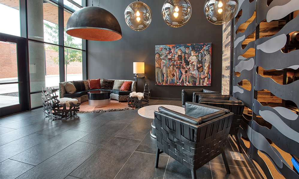 Luxury resident lounge area at apartments in Pittsburgh, Pennsylvania