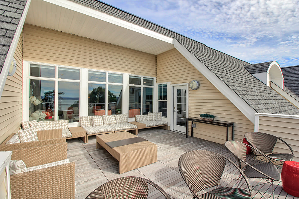 Luxury clubhouse at apartments in Canandaigua, New York