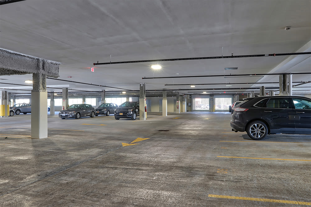 Parking area at apartments in Canandaigua, New York