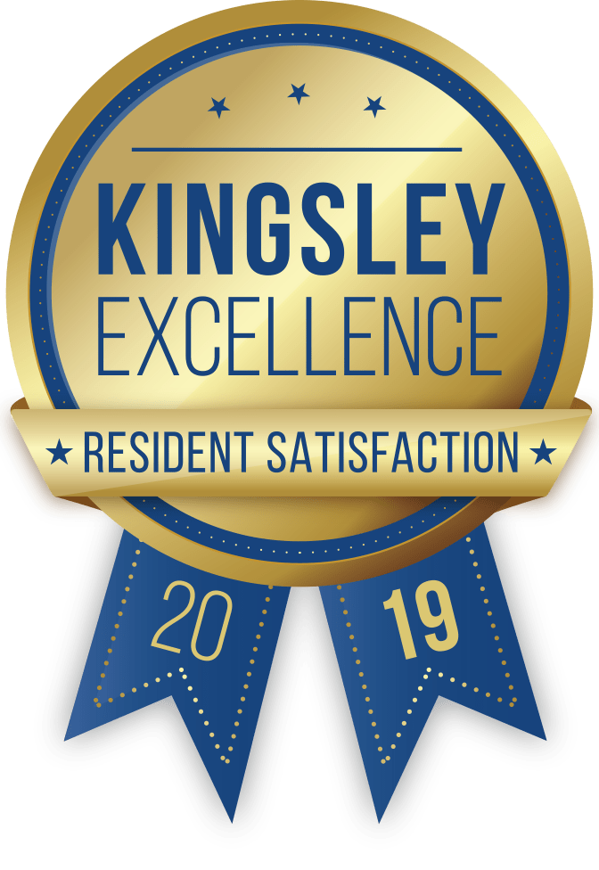 Kingsley Excellence Resident Satisfaction 2019 Award