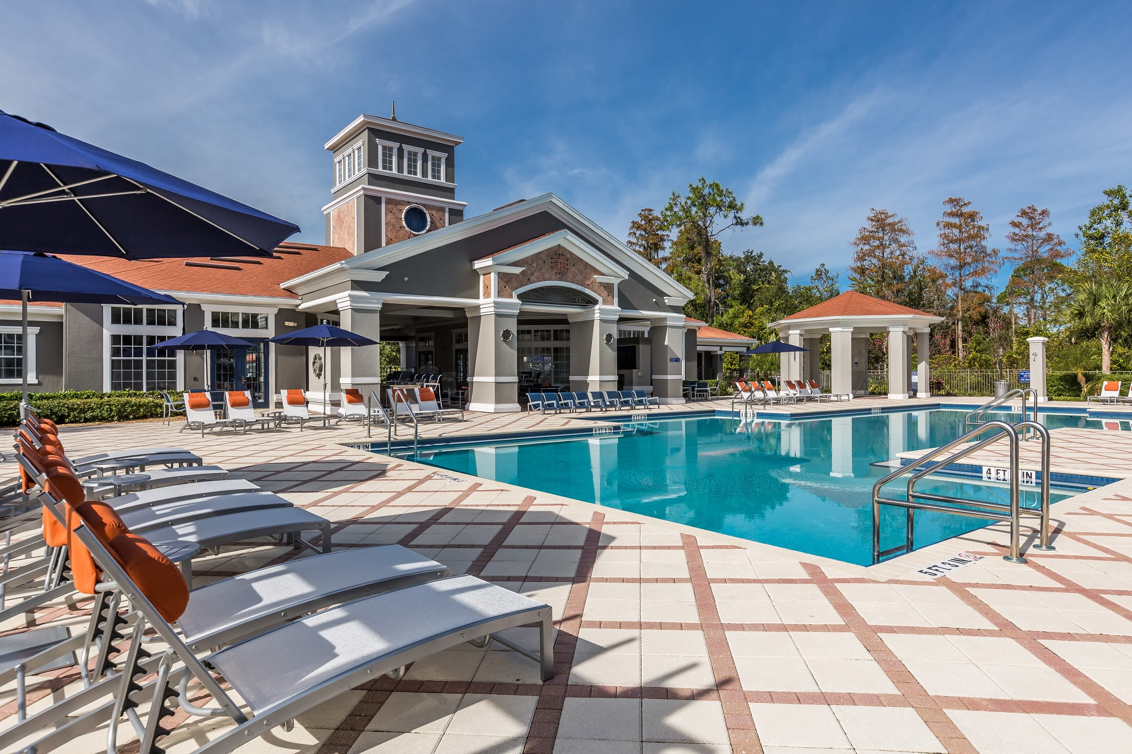 Luxury swimming pool at The Aspect in Kissimmee, Florida