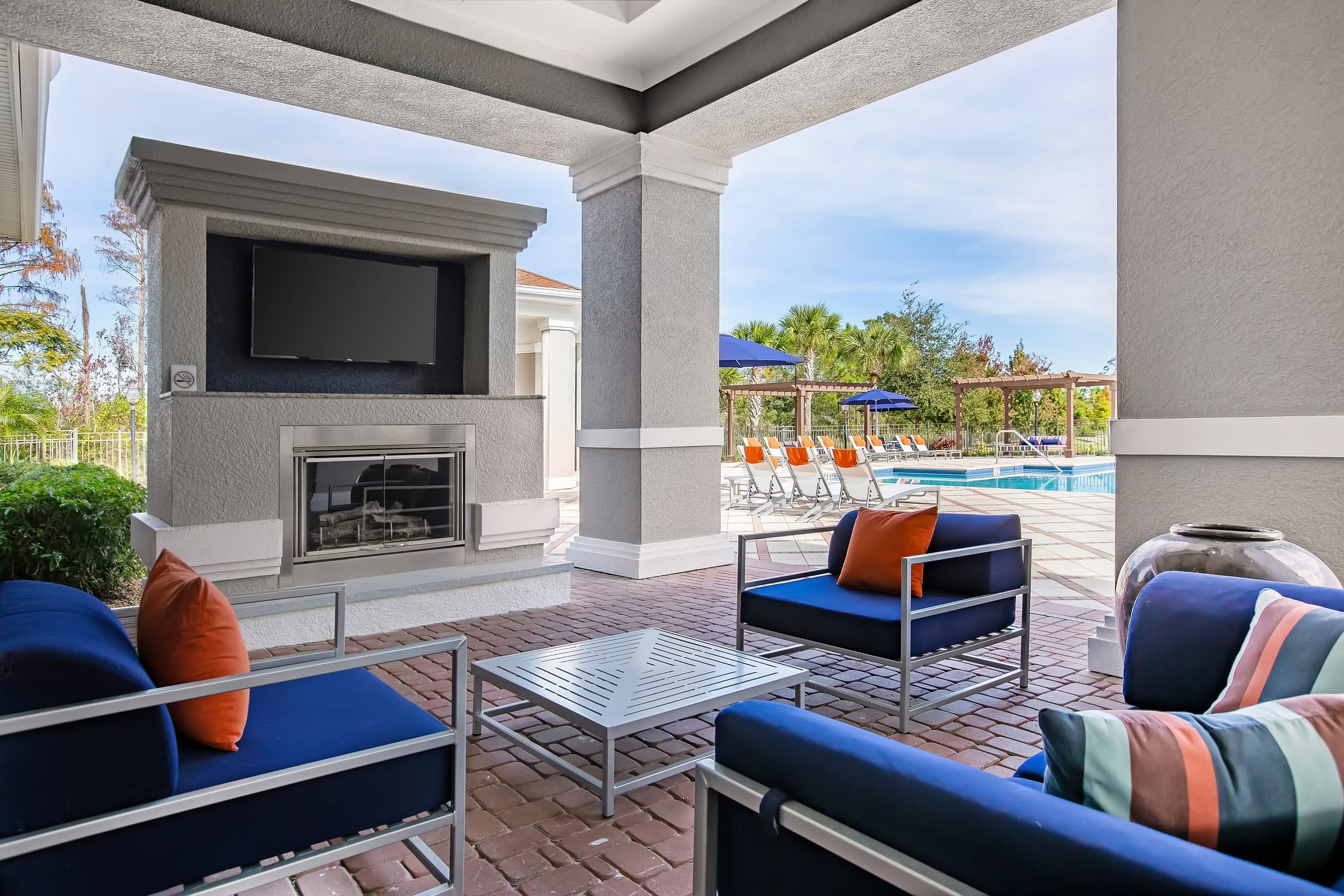Pool area at The Aspect in Kissimmee, Floridalocation_name}} in Kissimmee, Florida