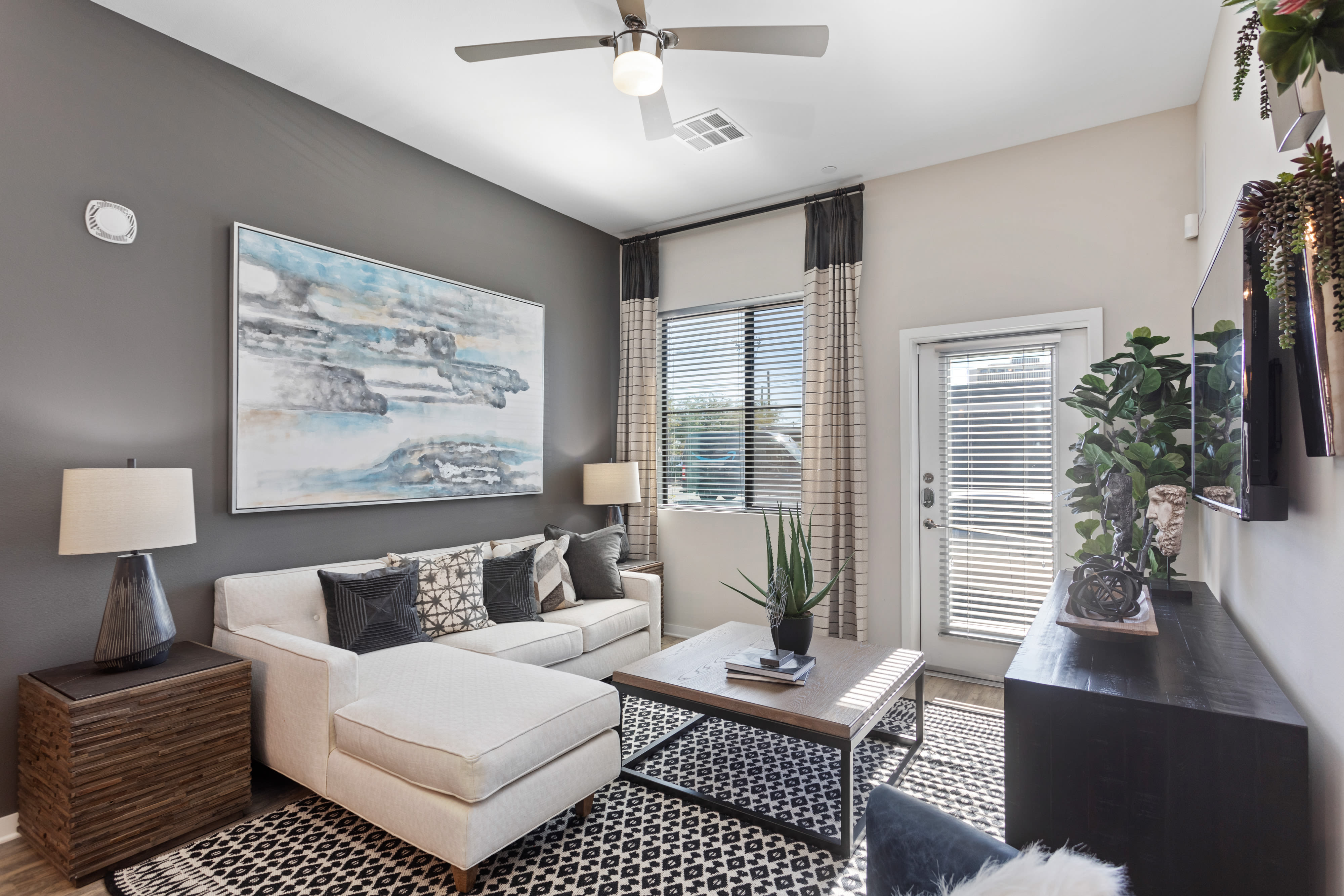 Living room at Alta Central