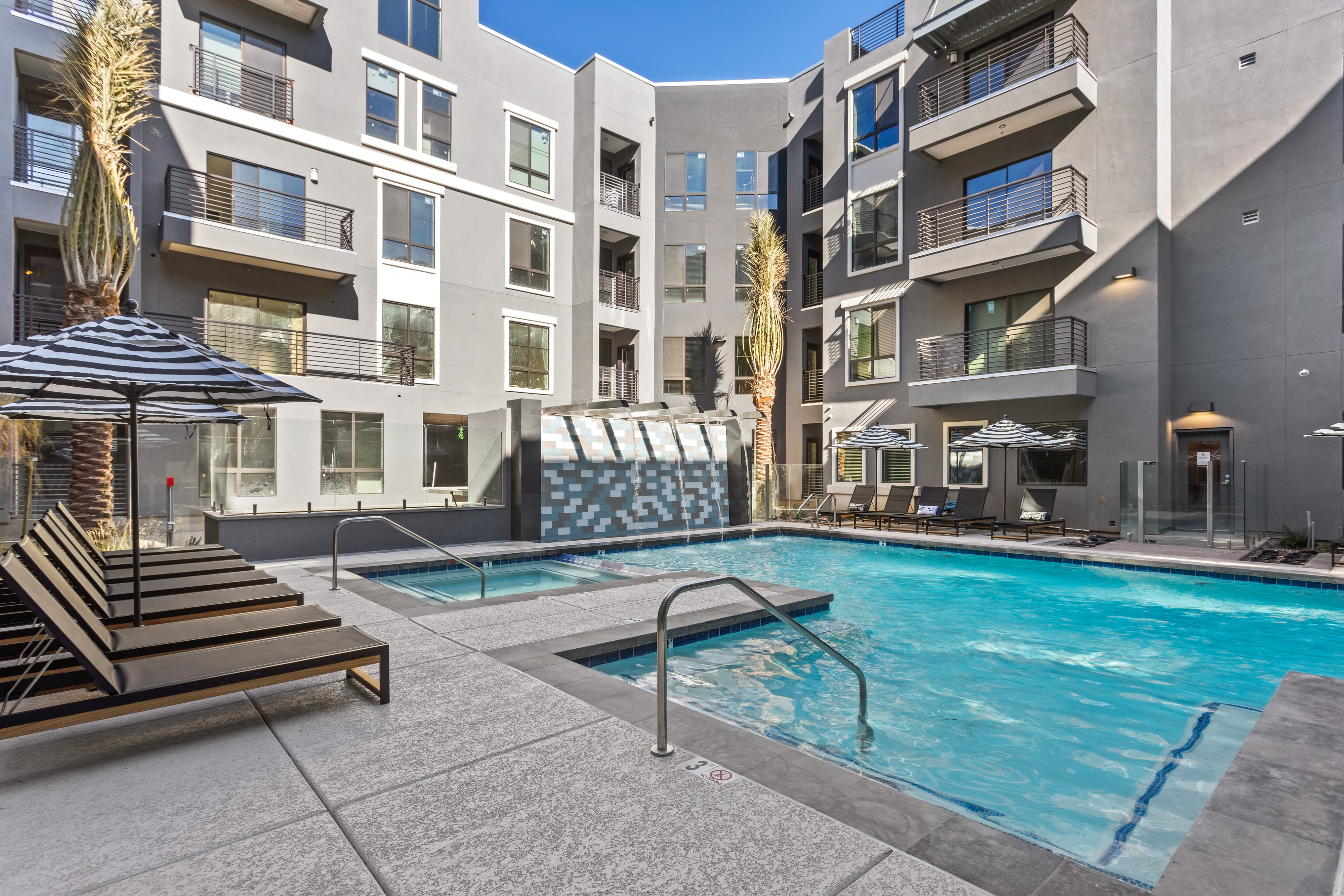 Pool deck at Alta Central