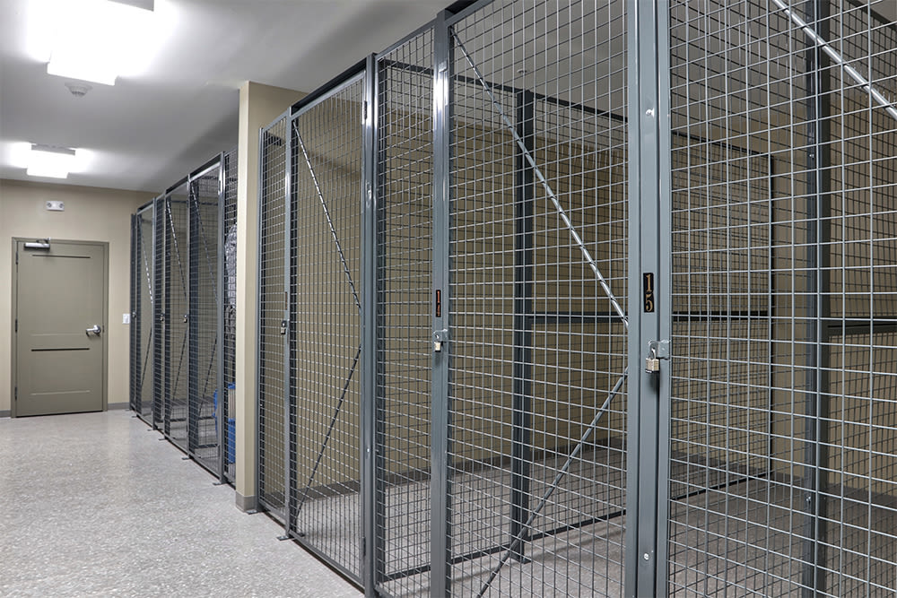 Private storage at Pinnacle North Apartments in Canandaigua