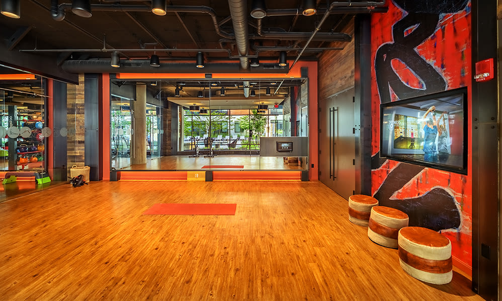 Fitness center at Eastside Bond Apartments in Pittsburgh, PA