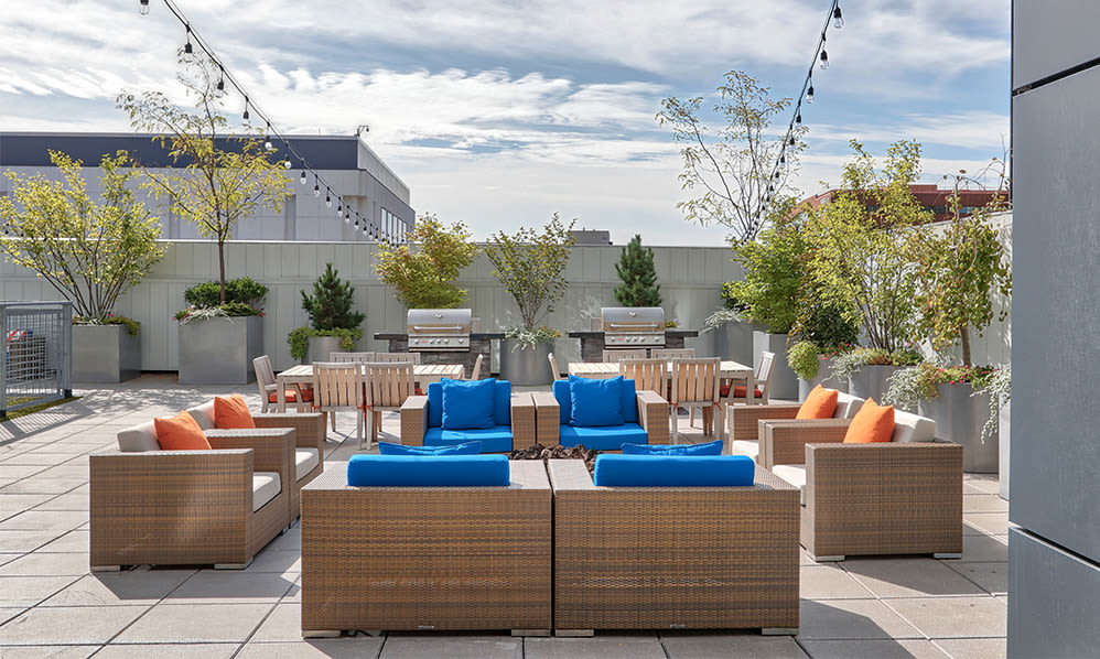 Unique patio in our Rochester, New York apartments