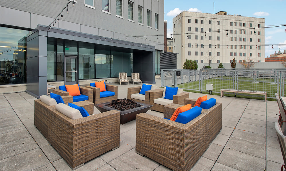 Tower280 offers a cozy patio in Rochester, New York