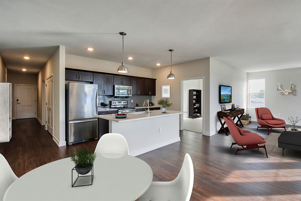 Spacious kitchen at apartments in Canandaigua, New York