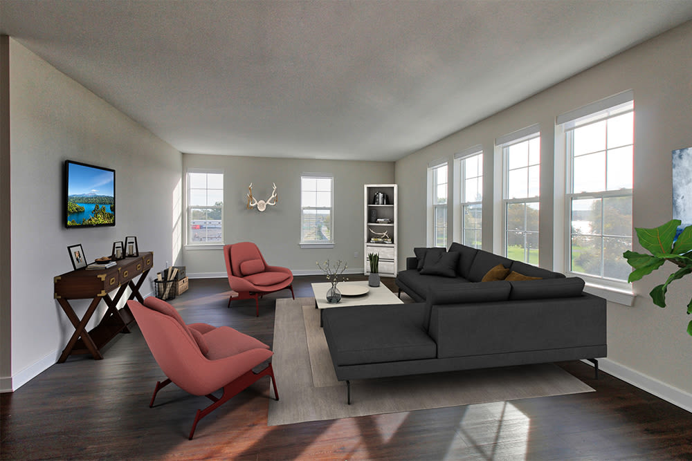 Living room at apartments in Canandaigua, New York