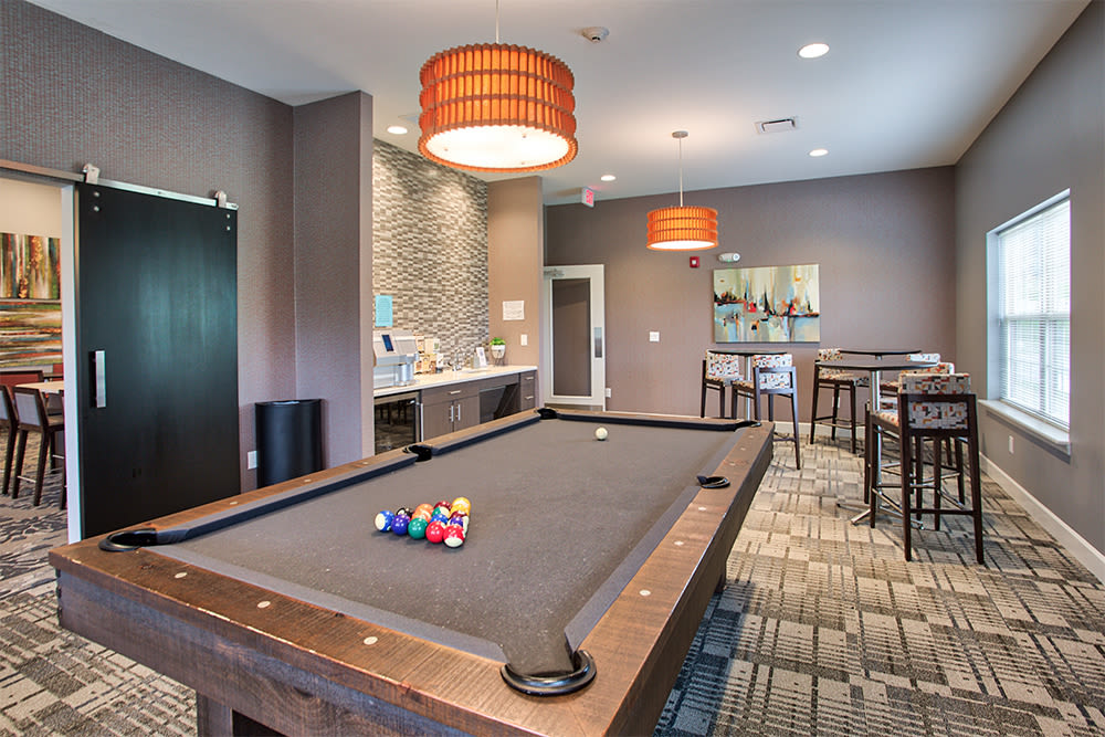 Family friendly game room at The Kane at Gray's Landing