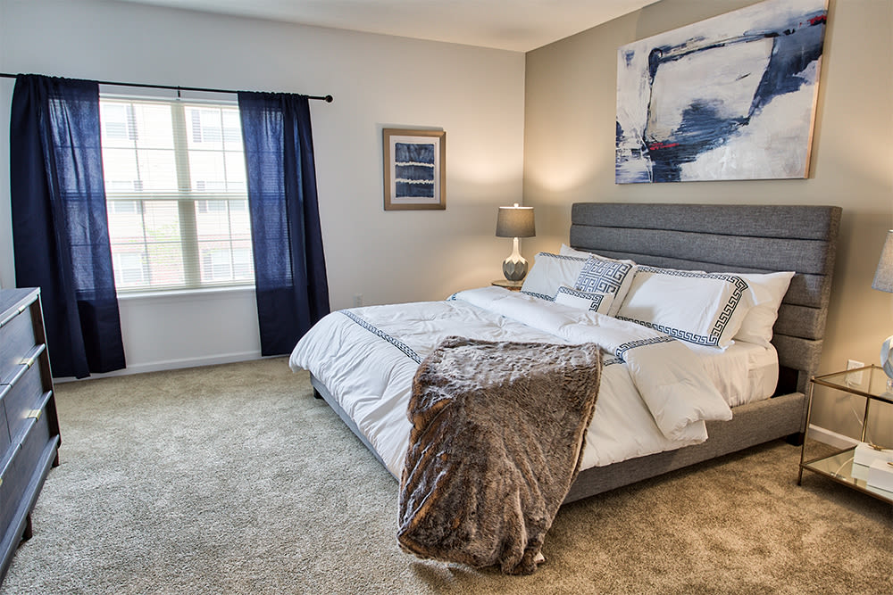 Enjoy apartments with a naturally well-lit bedroom at The Kane at Gray's Landing