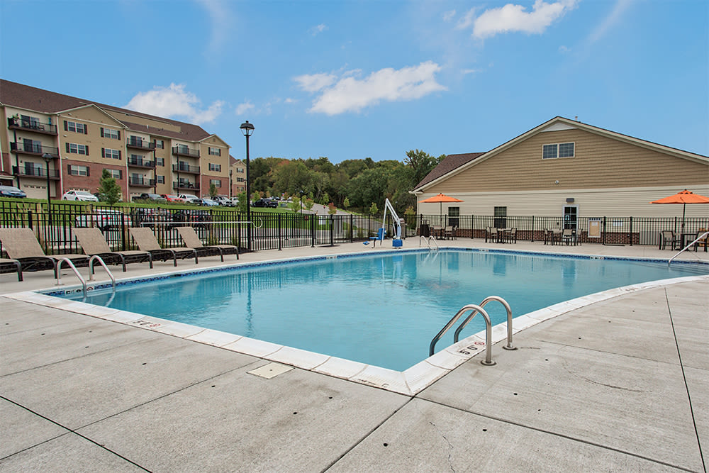 Enjoy apartments with a swimming pool at The Kane at Gray's Landing
