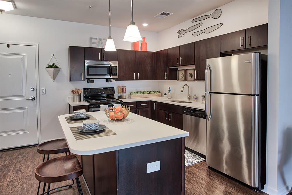 Beautiful kitchen at The Kane at Gray's Landing in Aliquippa, Pennsylvania
