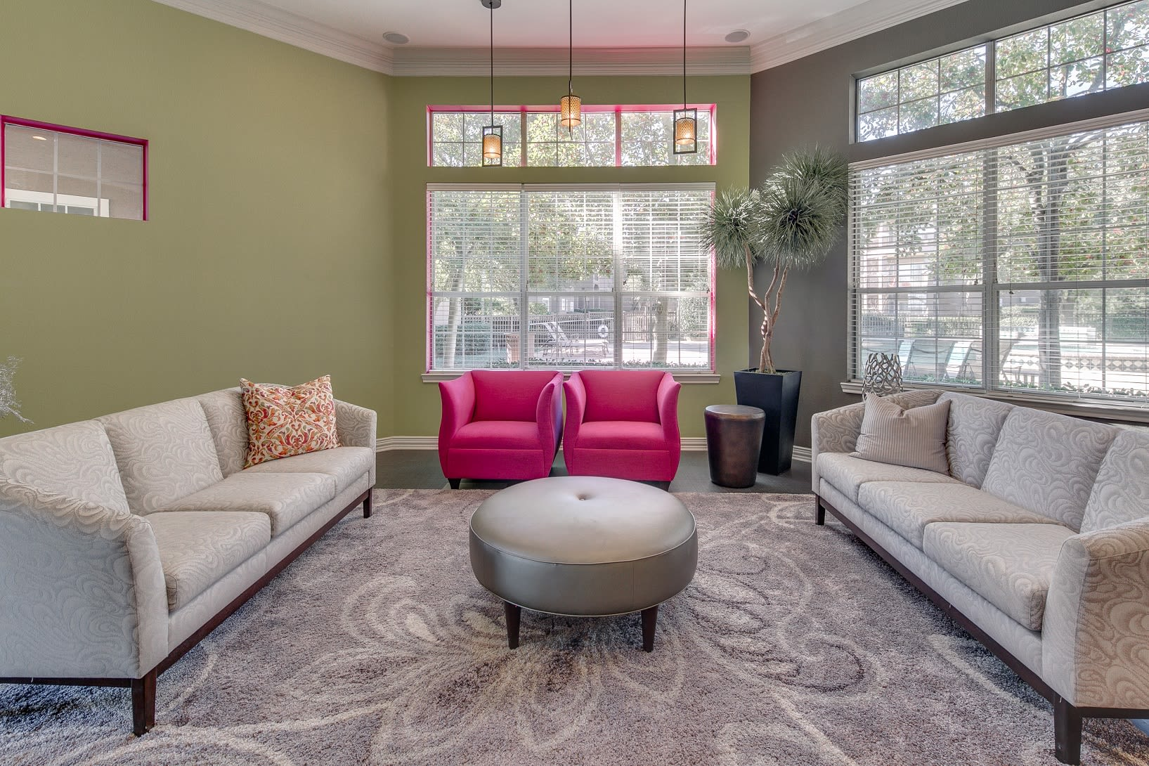 Inside our leasing office at The View at Lakeside in Lewisville, Texas