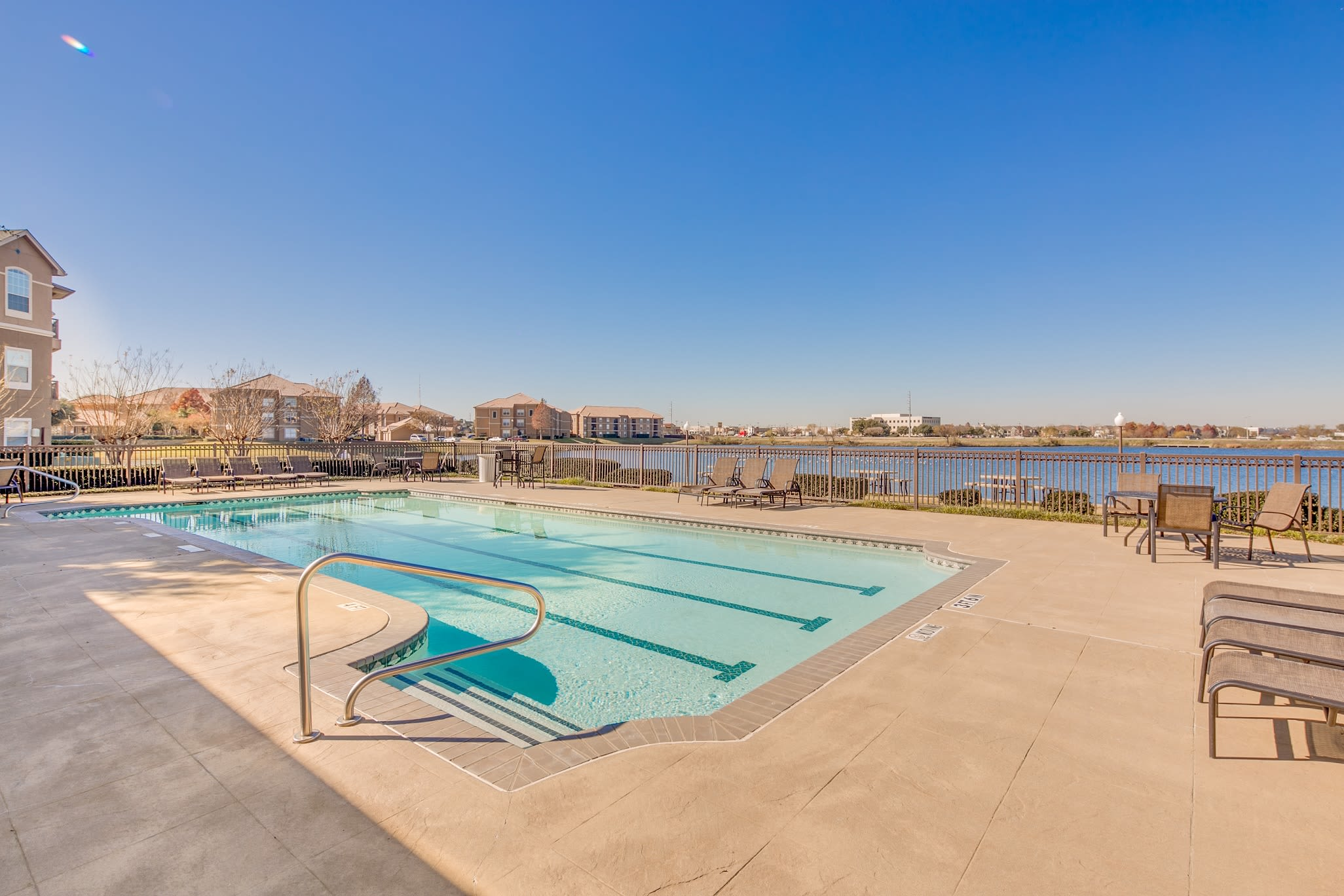 Sand volleyball court at The View at Lakeside in Lewisville, Texas