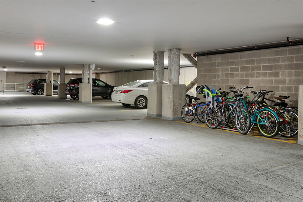 Parking area at apartments in Rochester, New York