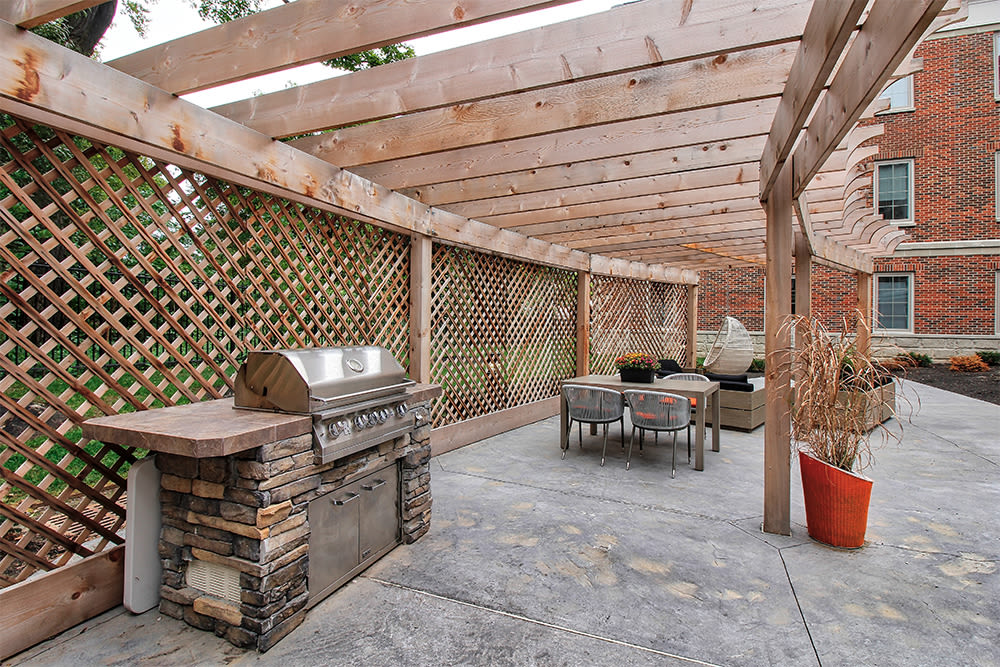 Our apartments in Rochester, New York showcase a beautiful bbq area