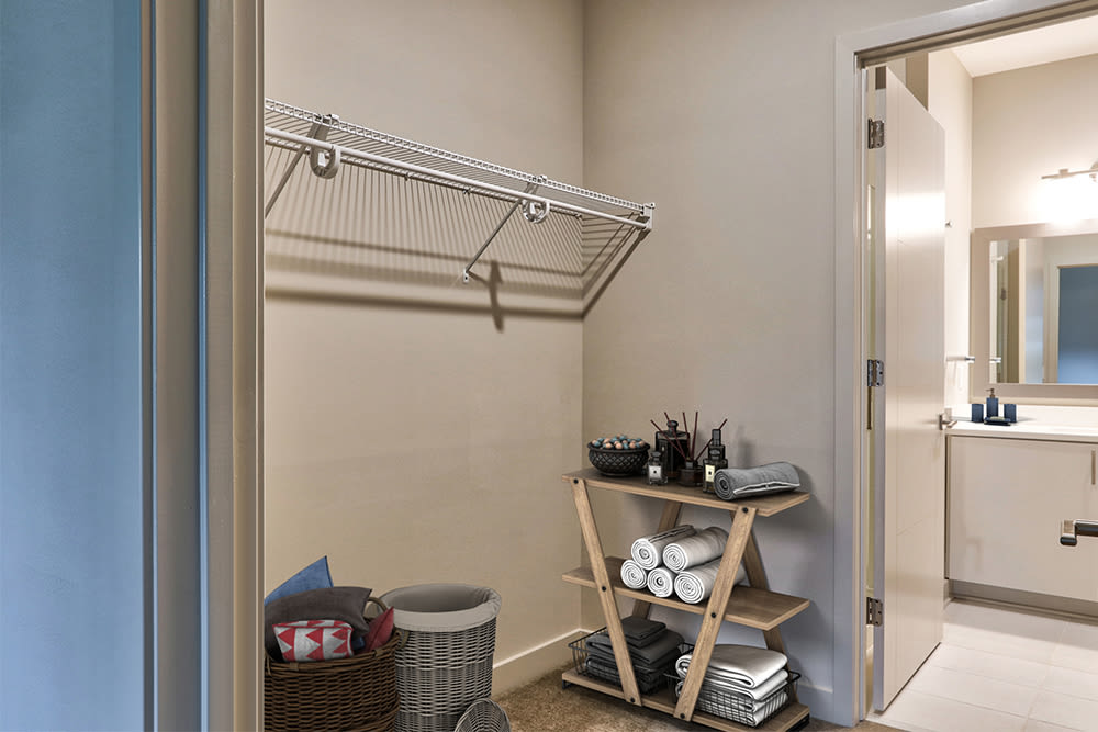Large walk-in closets at apartments in Rochester, New York