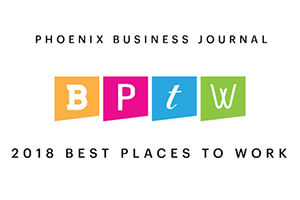 Phoenix Business Journal's Mark-Taylor award for Best Places to Work