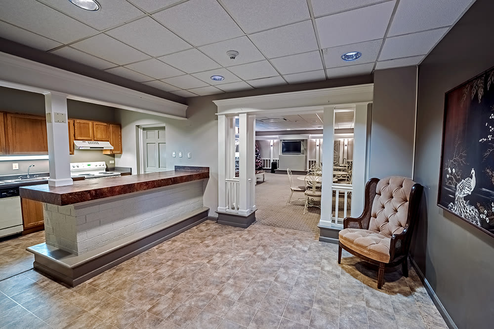 Clubhouse interior at Maiden Bridge and Canongate Apartments in Pittsburgh