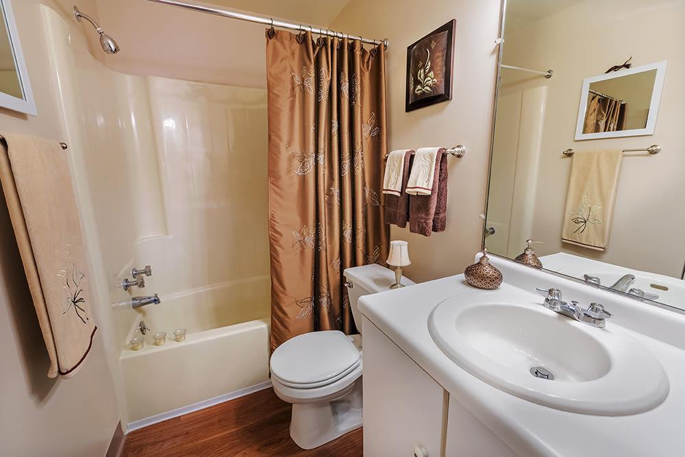 Bathroom at Maiden Bridge & Canongate Apartments in Pittsburgh