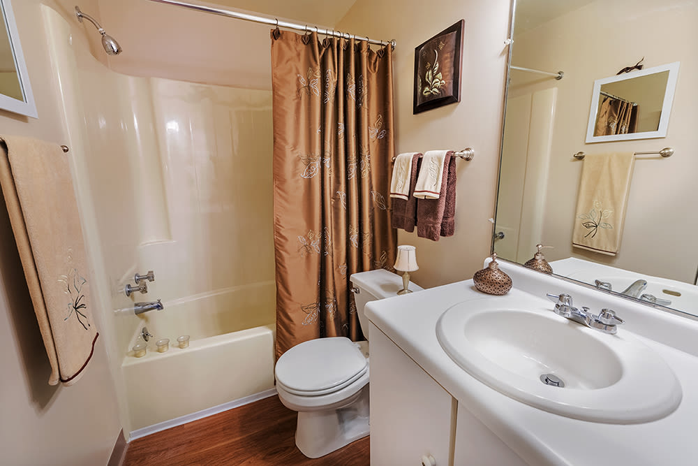 Bathroom at Maiden Bridge and Canongate Apartments in Pittsburgh
