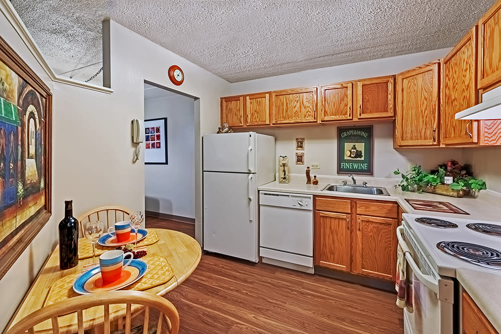 Kitchen at Maiden Bridge and Canongate Apartments in Pittsburgh, Pennsylvania