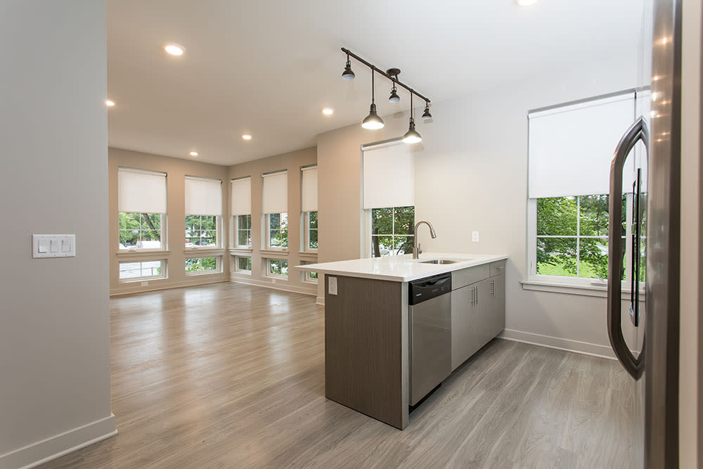 Open floor plan space at 933 the U home in Rochester, NY