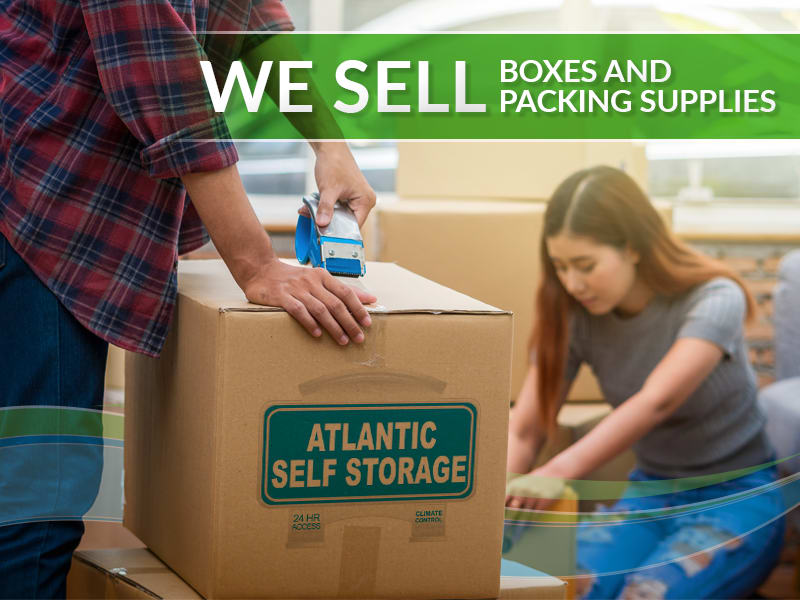 Packing and supplies at Atlantic Self Storage in Jacksonville, FL