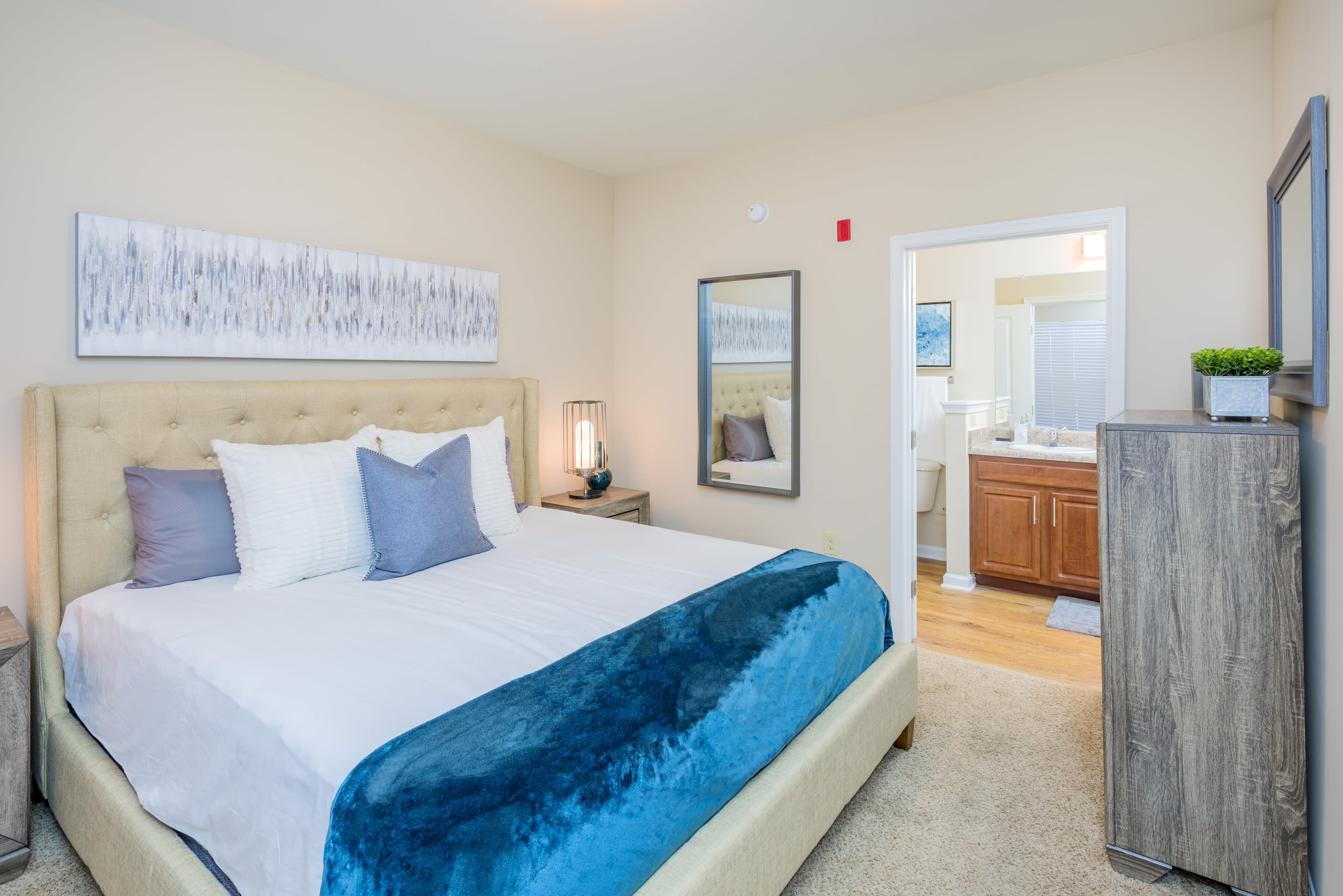 Spacious bedroom at Arbor Village in Summerville, South Carolina