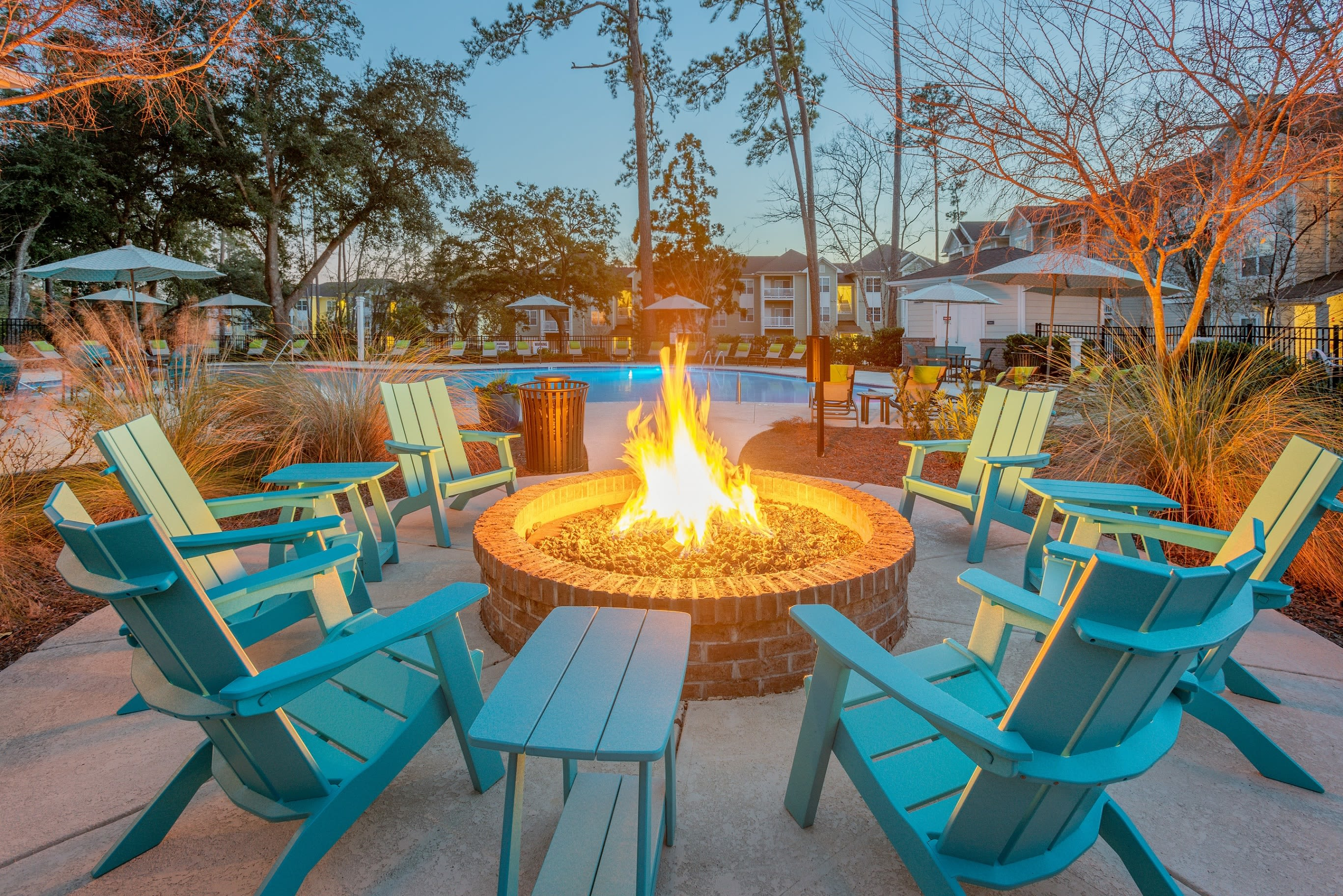 Clubhouse grilling area at Arbor Village in Summerville, South Carolina