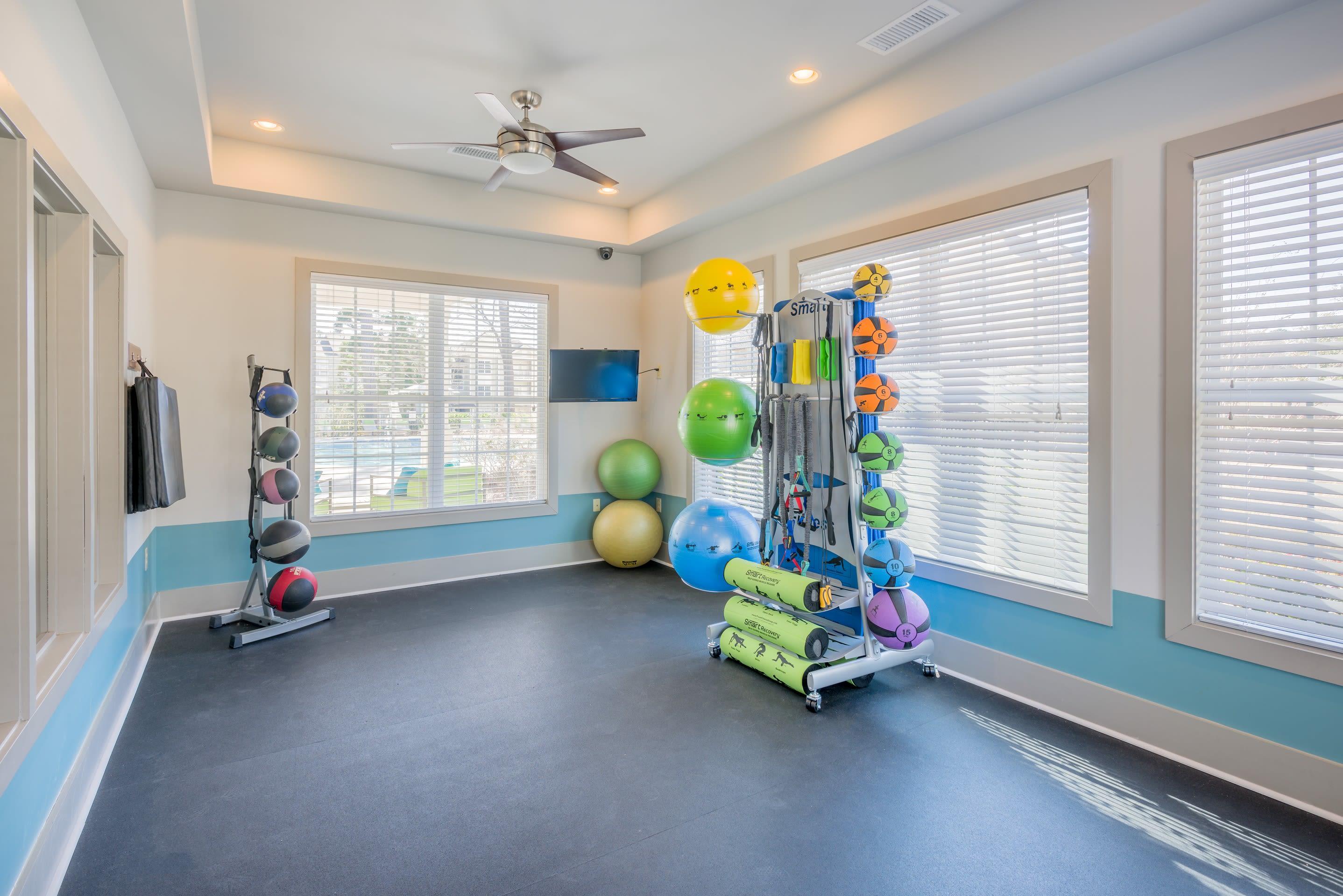 Fitness center at Arbor Village in Summerville, South Carolina