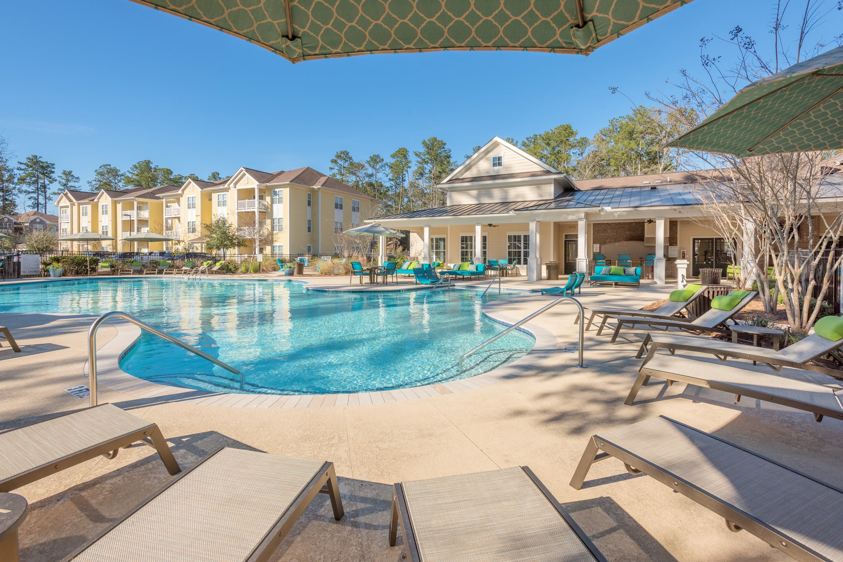 Relax  at Arbor Village in our resort-style pool