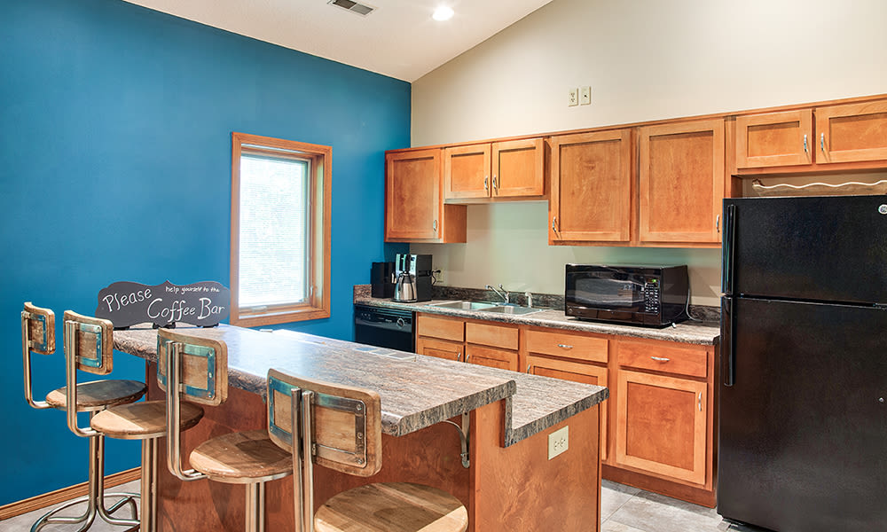 Clubhouse kitchen at The Summit at Ridgewood in Fort Wayne, Indiana