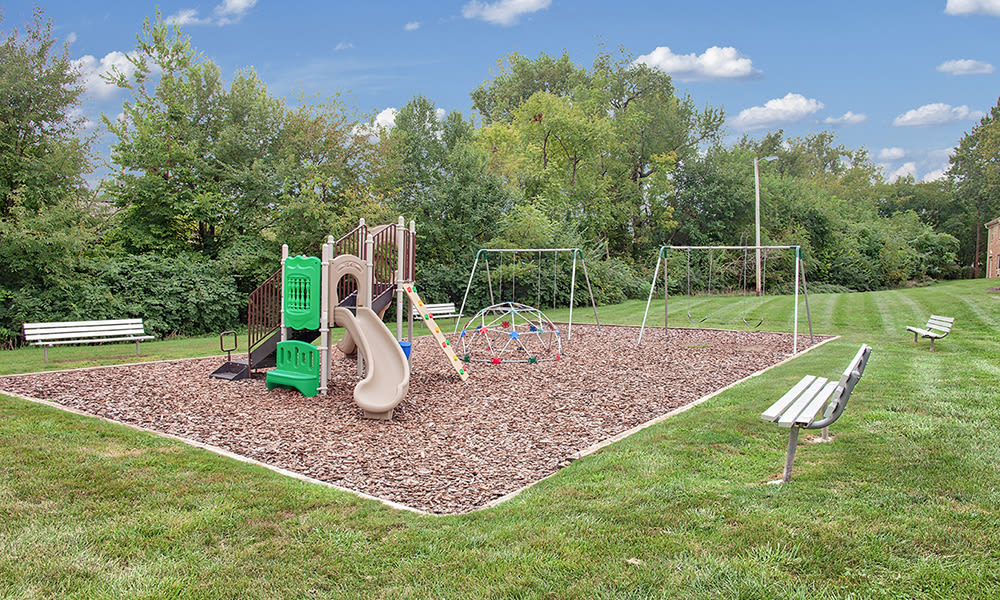 Playground at apartments in Fort Wayne, Indiana